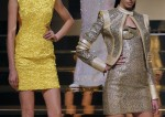 Models present creations for Versace dur